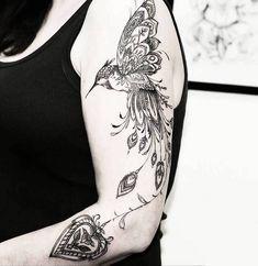 100 Best Arm Tattoo Designs for Ladies - Tattoo Fonts Model Tattoos, Body Art Tattoos, Fly Tattoos, Forearm Tattoos, Lace Tattoo, Mandala Tattoo, Deer Tattoo, Tattoo Black, Tattoo Ink