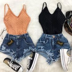 Womens Clothes Shops Near London Bridge either Cute Summer Outfits With Black Shorts this Cute Summer Outfits For Graduation Parties plus Cute Summer Dress Stores Teen Fashion Outfits, Teenage Outfits, Mode Outfits, Outfits For Teens, Girl Outfits, Fashion Ideas, Fashion Fashion, Twin Outfits, Womens Fashion