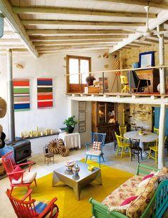 home of the Spanish interior designer + ARTist Javier Requejo |  images  Elle Decor España