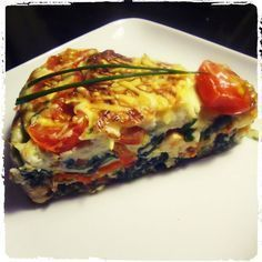 Superslanke After-work out Dish: Quiche zonder korst paleo lunch nederlands Good Healthy Recipes, Low Carb Recipes, Cooking Recipes, Love Food, A Food, Food And Drink, Quiches, Easy Snacks, Easy Meals