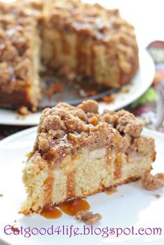 Apple Caramel Coffee Cake by eategood4life #Coffee_Cake #Apple #Caramel #eatgood4life