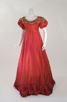 Ball gown ca. 1820's.  From CONTENTMENT FARM. [inspiration - Kisses, She Wrote: A Christmas Romance]