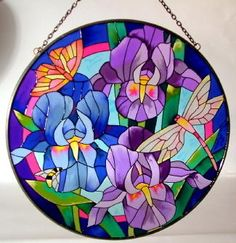 Stained Glass Dragonfly Suncatcher - meenaimports.com