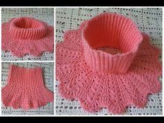 01:31: Frente a la camisa de 2 a 6 7 años se trata de muy encaja bien en el cuello se ajusta Si teje un poco de otro hilo. otro metro no 200 gramos por 50 A metros como en la novedad de los niños Crochet Collar Pattern, Col Crochet, Crochet Lace Collar, Crochet Girls, Crochet Gloves, Chunky Crochet, Crochet Diagram, Crochet Stitches Patterns, Baby Knitting Patterns
