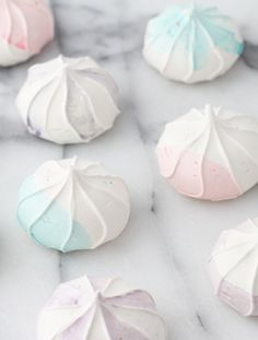 DIY Watercolor Meringue Cookies