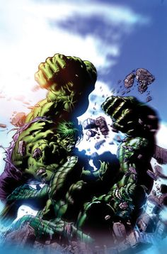 Incredible Hulk vs Abomination by Mike Deodato Jr.