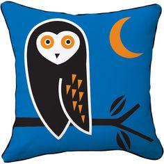Naked Decor // Night Owl Pillow