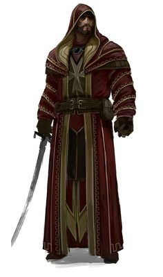 Human Mage - Robed with Sword