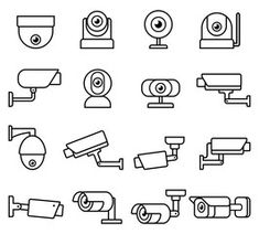 Home security camera video surveillance systems infographics vector illustration. - Buy this stock vector and explore similar vectors at Adobe Stock | Adobe Stock Surveillance System, Security Cameras For Home, Line Icon, Moment, Icon Set, Infographics, Vectors, Adobe, Explore