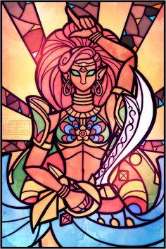 "Gerudo Champion Lady Urbosa > Stained Glass Design art > Legend of Zelda Breath . - Stained Glass Design art > Legend of Zelda Breath …""> Gerudo Champion Lady Urbosa > Stained Gla - The Legend Of Zelda, Legend Of Zelda Memes, Legend Of Zelda Breath, Link Zelda, Stained Glass Designs, Stained Glass Art, Breath Of The Wild, Sheikah Zelda, Image Zelda"