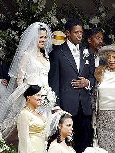 Denzel Washington (with costar Lymari Nadal) hears wedding bells Wednesday on the Harlem, N.Y., set of the movie American Gangster.