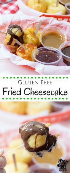 Crunchy on the outside, sweet and creamy on the inside, this gluten free fried cheesecake will transport you to the state fair! #createwithoil #sponsored