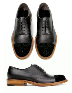 Textured tip brogues #menstyle #fashion #accesorries #shoes #leather #contrast