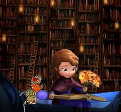 Sofia And The Mice In The Library