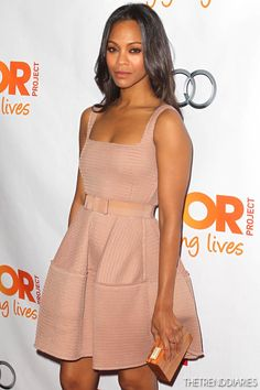 "Zoe Saldana at The Trevor Project's 2012 ""Trevor Live"" Event ..."