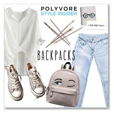"""""""Rule School: Cool Backpacks"""" by andrejae ❤ liked on Polyvore featuring Dolce&Gabbana, Chicwish, Converse, backpacks, contestentry and PVStyleInsiderContest"""