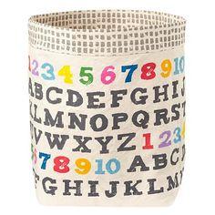 Kids Storage: Fluf Screen Printed Floor Bins in Bins & Baskets | The Land of Nod