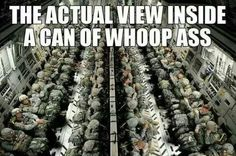 The actual view inside a can of whoop ass