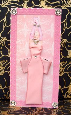 Diamonds Are a Girls Best Friend Dress Card / Marilyn by BSylvar, $19.00