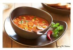 Pasulj (Prebranac, Grah): Croatia, Slovenia, Serbia & Bosnia-Hercegovina bean, smoked meat, tomato and chilli soup.