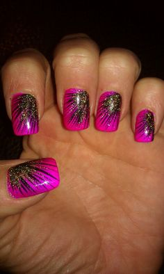 peacock nail art example
