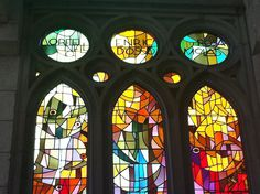 Barcelona, Sagrada Familia, Interior, Stained Glass, Gaudi by melissa.delzio, via Flickr