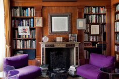 Home Library  Casa de Claudio Luti decorada por Renzo Mongiardino    (Foto: Giorgio Possenti)