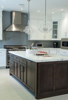 Kitchen Renovation By Lara Michelle Interiors, Rye Brook NY Featuring Hudson  Valley Lighting Washington Pendants