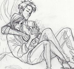 """""""Our Teddy! Teddy Lupin! Snogging our Victoire! Our cousin!"""" drawn by burdge ==>previous pinner"""