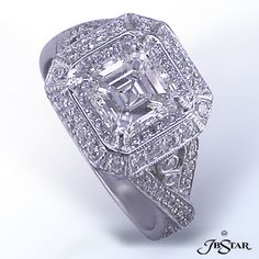 Platinum Diamond Ring J.B. Star, Naples Jewelery