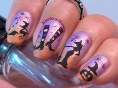 #uñasestampadas #sexynails #moda #estilo #style #fashion #fashionnails #halloween #halloweennails #witch #witchnails