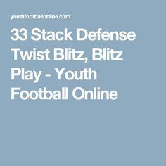 33 Stack Defense Twist Blitz, Blitz Play - Youth Football Online