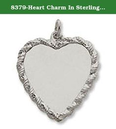 8379-Heart Charm In Sterling Silver, Charms for Bracelets and Necklaces. Experience the quality of Rembrandt Charms. This 8379-Heart Charm In Sterling Silver is stamped with the metal quality mark and RQC trademark. All Rembrandt products have a Lifetime guaranteed. Sterling silver charms are plated with rhodium, a precious metal in the platinum family, which is used over our sterling silver to prevent corrosion or tarnishing. Please note the images above are enlarged to show detail. The...