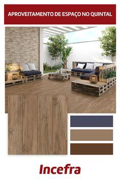 Reinvente seu espaço! Com uma atenção especial, qualquer espaço de sua casa pode tornar-se o seu favorito! Nessa área externa, a utilização do HD-57350 deixou o ambiente ainda mais leve e aconchegante. Neutro, harmonizou-se com a madeira, plantas e cores utilizadas na decoração. Inspire-se e crie combinações incríveis!  Ref. HD-57350 | 57x57cm | Acetinado Rústico  #varanda #areaexterna #madeira #pisomadeira #piso #ceramica #incefra #grupofragnani