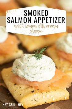 This Smoked Salmon Appetizer is light, fresh, and a great way to start a party. Smoked salmon combined with lemon dill cream cheese makes for a perfect flavor marriage. Stick the two on top of a crisp crescent dough crostini baked with everything bagel seasoning, and you have a true winner.