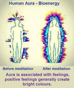 The benefits of meditation on our energy fields. Reiki has the same effect. Kirlian Photography, Stage Yoga, Yoga Lyon, Les Chakras, Aura Colors, Bright Colors, A Course In Miracles, Qi Gong, Mindfulness Meditation