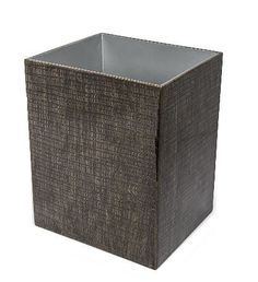 Waste Basket: 7.95L x 6.81W x 9.76H Lustrous elegance. Resin with Hand Painted Lacquer Finish Bath Accessories. Beautiful silver color to satisfy all tastes. This accessory set will upgrade your bathr