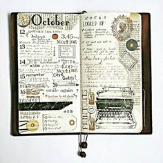 Midori Traveler's Notebook ideas and layouts. Inspiration for keeping a travel journal, art journal or scrapbook Travel Journal Pages, My Journal, Journal Notebook, Travel Journals, Daily Journal, Filofax, Travelers Notebook, Moleskine, Midori