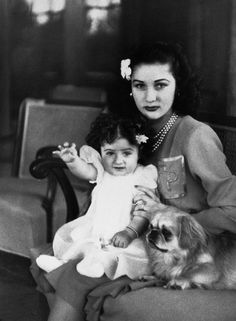 Queen Fawzia of Iran with her Daughter, Shahnaz Pahlavi