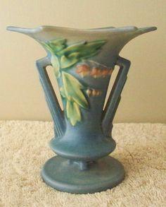 Roseville Art Pottery Vase 1938 Bleeding Heart by vintagesouthwest, $85.00