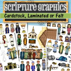 Felt Printed and Laminated Characters for Scripture by TimeSavors