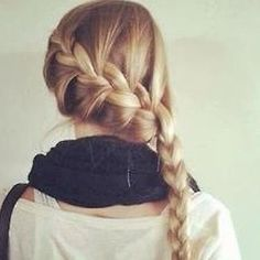 This braid is to die for!! • • • • I want my hair to be as long as hers :(