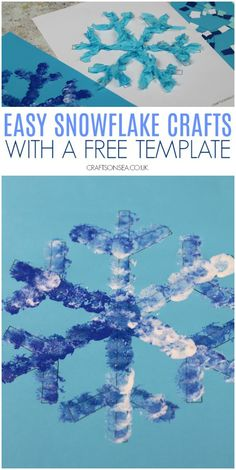 easy snowflake crafts for kids art ideas Four super simple snowflake crafts for kids with ideas to help support fine motor skills and scissor skills plus a free template to use. Winter Crafts For Toddlers, Winter Activities For Kids, Winter Kids, Crafts For Kids To Make, Winter Art, Winter Theme, Toddler Crafts, Preschool Crafts, Art For Kids