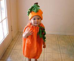 Kids Costume  Pumpkin Costume Halloween Costume by TheCostumeCafe