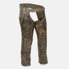 distressed leather chaps