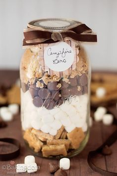 s'mores:in a jar