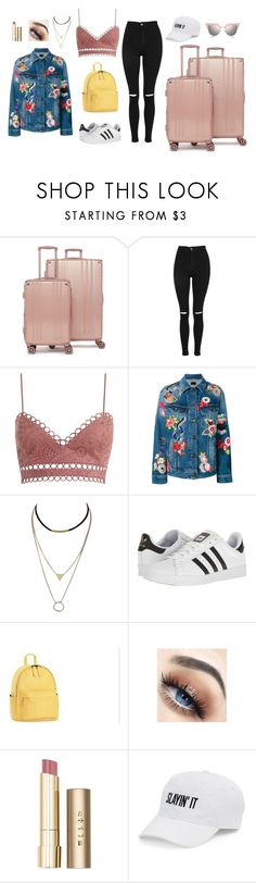 """Untitled #1020"" by alwateenalr on Polyvore featuring CalPak, Topshop, Zimmermann, Yves Saint Laurent, adidas, Stila, SO and Fendi"