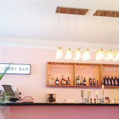 Motel Hamilton - lobby bar #pink #dspink #dscolor #sodomino Lobby Bar, Instagram Accounts, Instagram Posts, Motel, Hamilton, Track Lighting, Ivory, Ceiling Lights, Pink