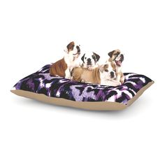 "Ebi Emporium ""Wild at Heart - Purple"" Lavender Dog Bed"