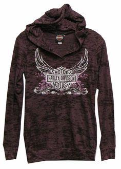 harley davidson clothing for women | Harley-Davidson® Womens Shirt – Hoodie Purple | Harley-Davidson ...